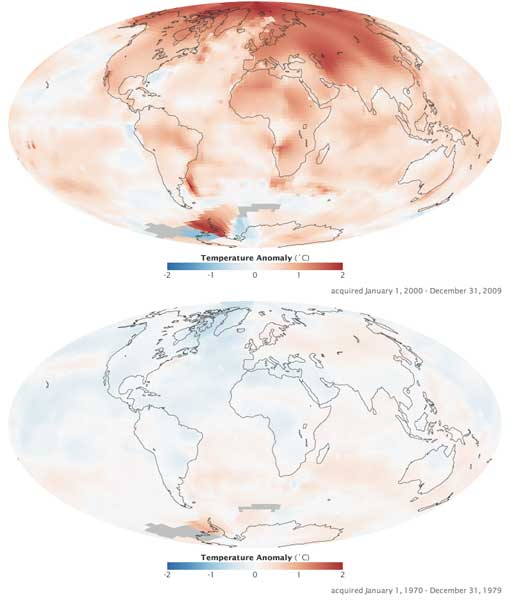 NASA Global warming mapped