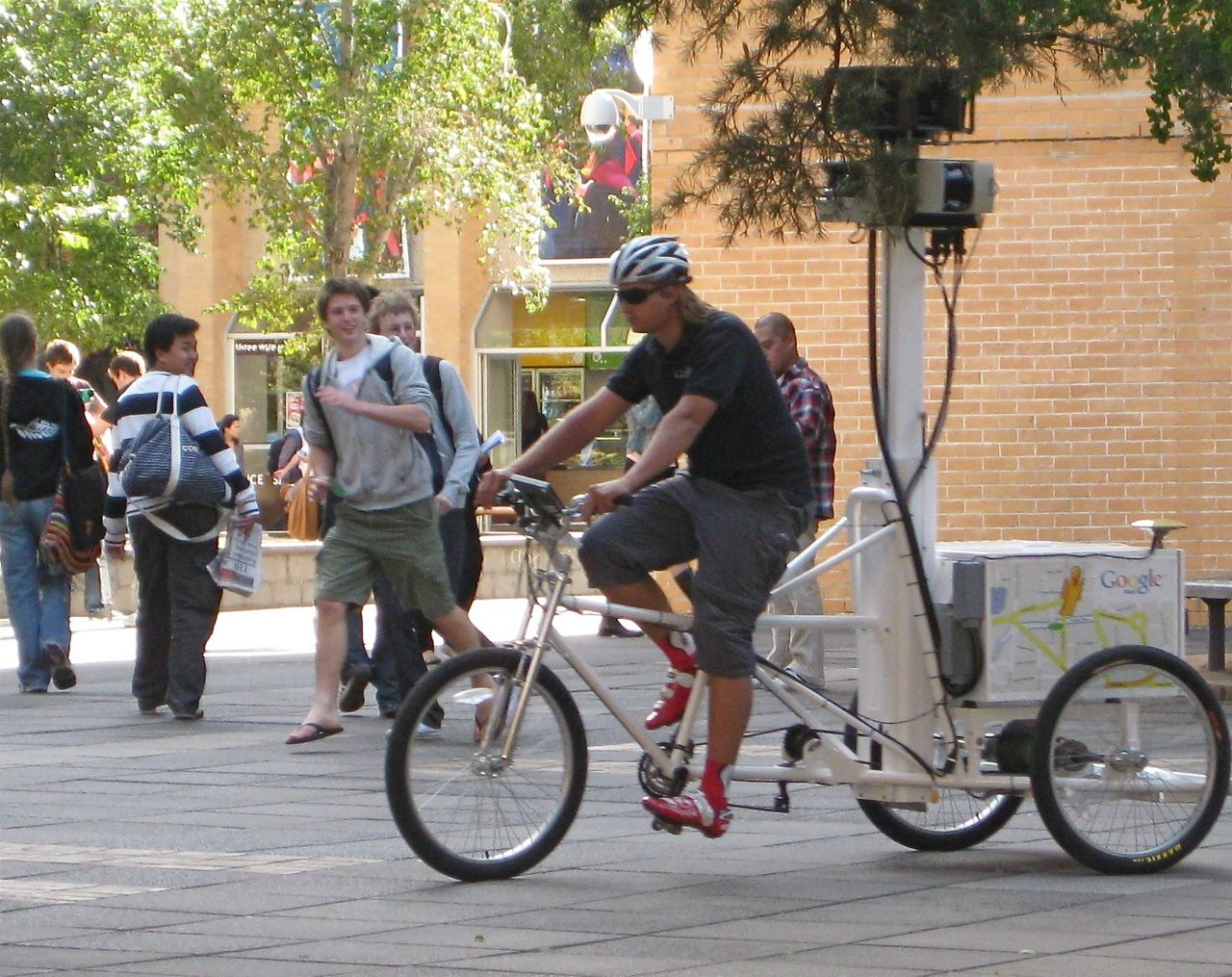 The Google Street View trike visits the University of Melbourne